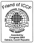 ICCF-U.S. Site receives 2003 Friend of ICCF award